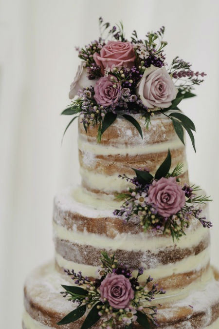 3-tiered Naked Cake for 65-70 guests